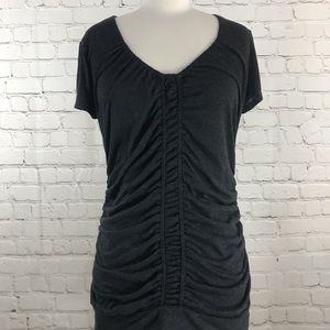Maurice's Charcoal Gray Short Sleeve Top